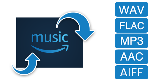 amazon music in MP3, AAC, WAV, FLAC konvertieren